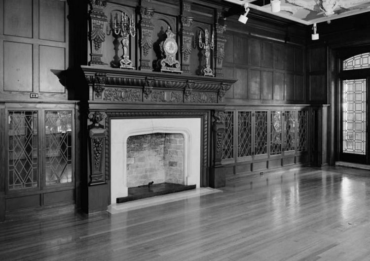 Fireplace in the Long House, Kansas City, MO (Photo from 1986)