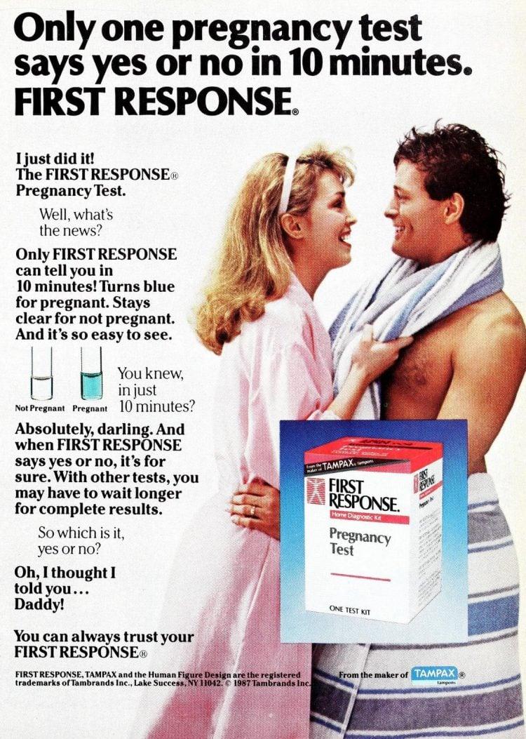 First Response pregnancy test 1988