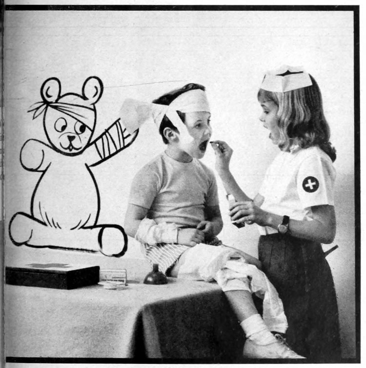 First aid for underfoot kids - Fun activities for bored kids - ideas from the 1960s