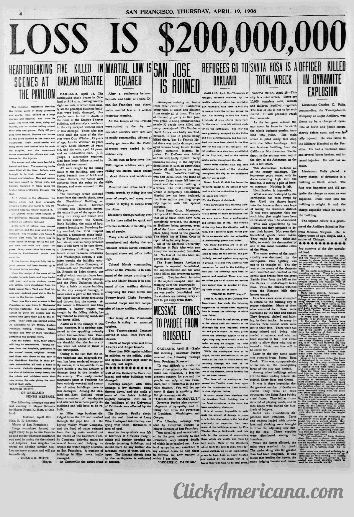 First chaotic news reports from the devastating 1906 San Francisco earthquake and fire (4)
