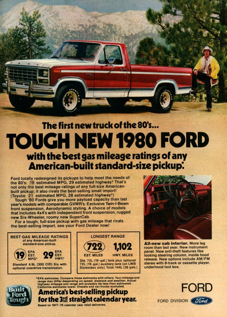 First new truck of the '80s Tough new 1980 Ford