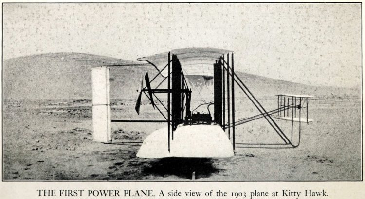 First power plane - 1903 at Kitty Hawk - Wright Bros