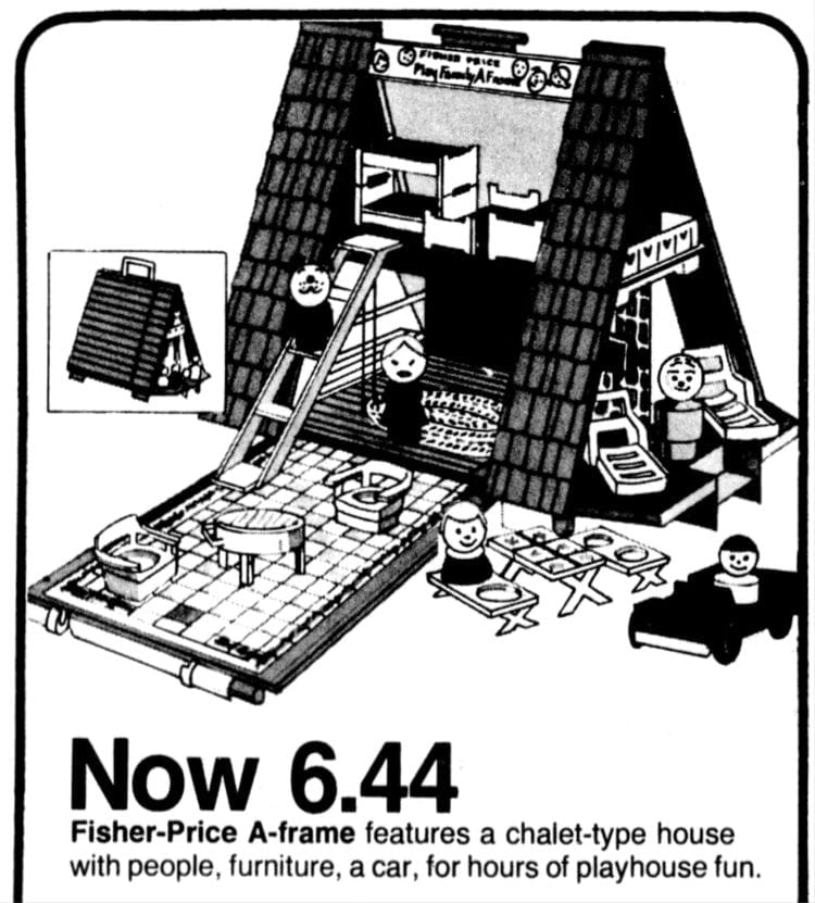 Fisher Price A-Frame play house 1974