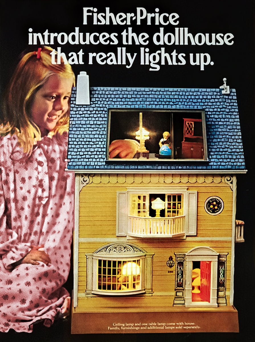 Fisher-Price Dollhouse With Lights (1984)