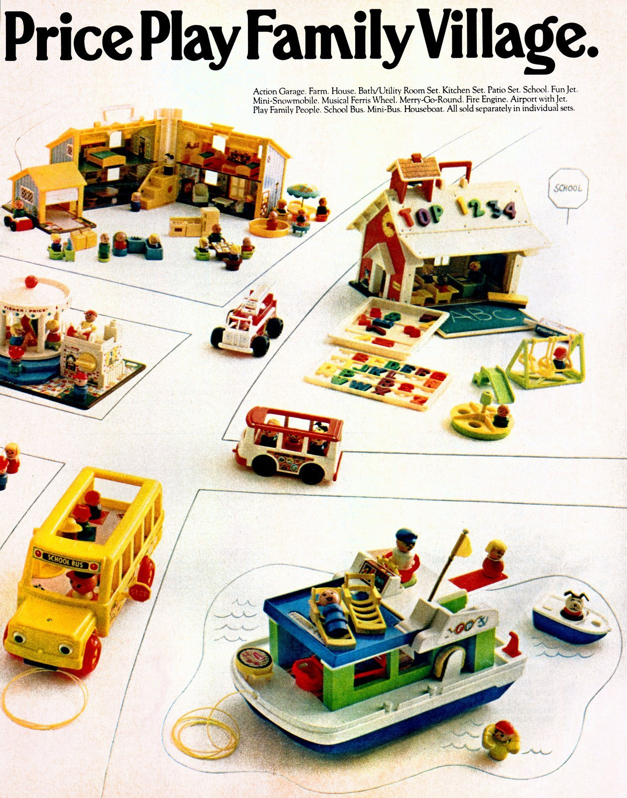 Fisher Price Little People play sets from 1972 (1)