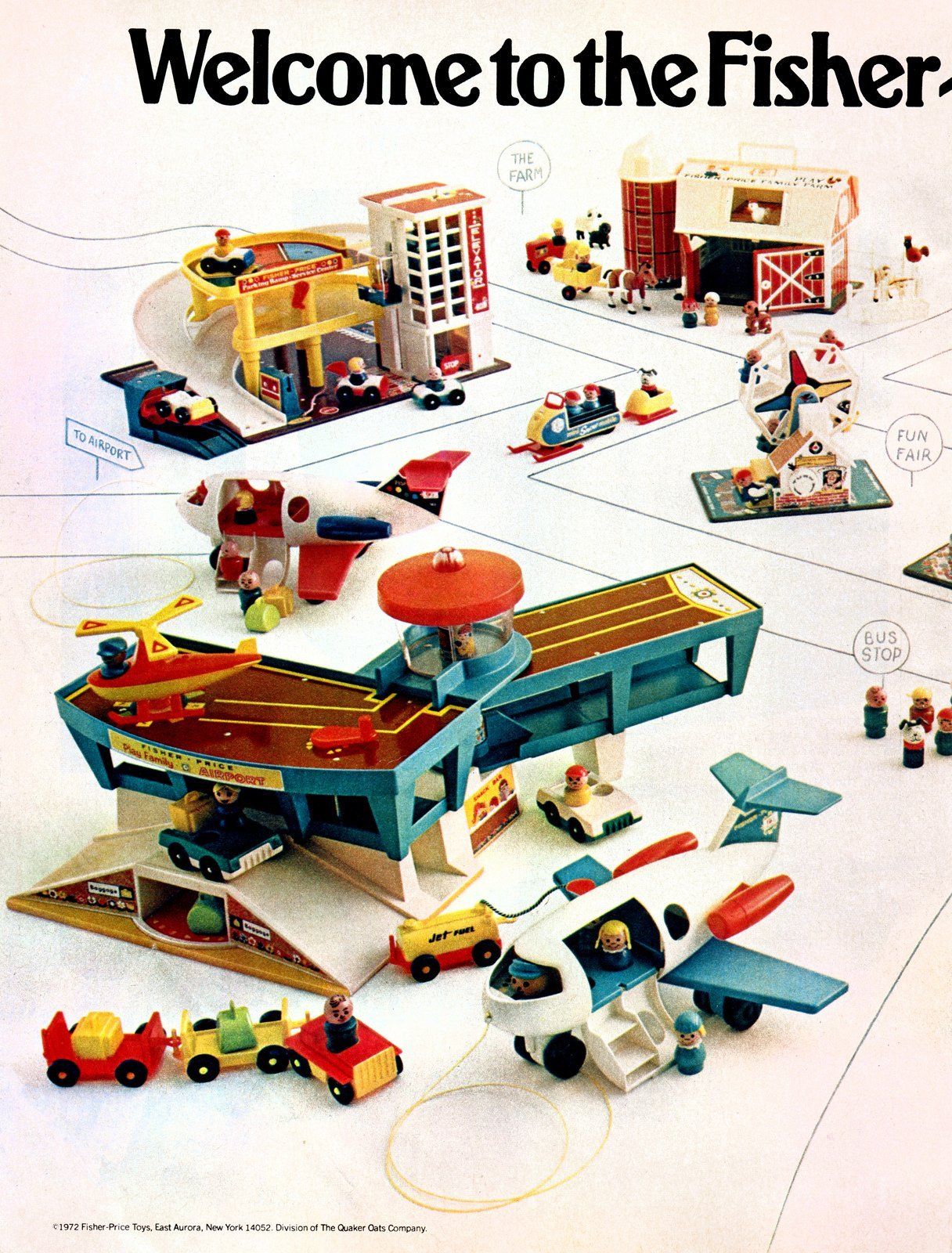 Fisher Price Little People play sets from 1972 (2)