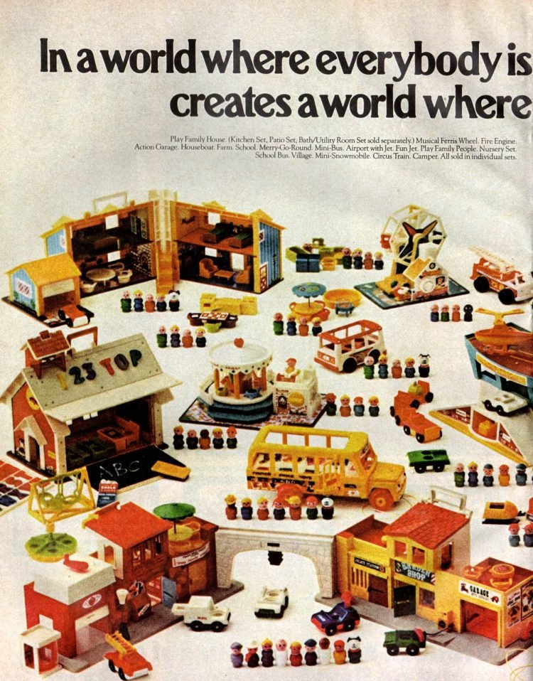 Fisher Price Little People play sets from 1973