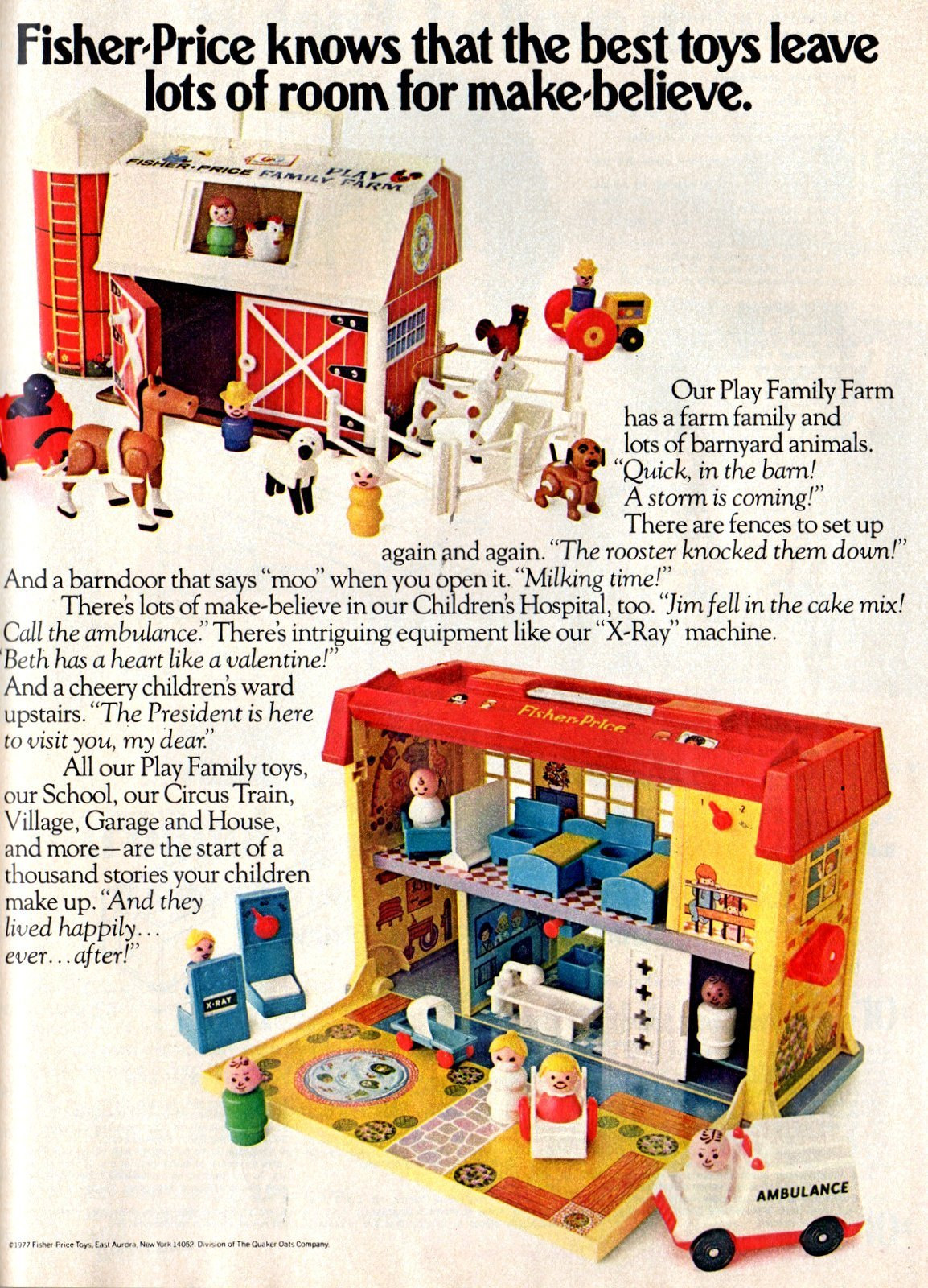 Fisher Price Little People play sets from 1977