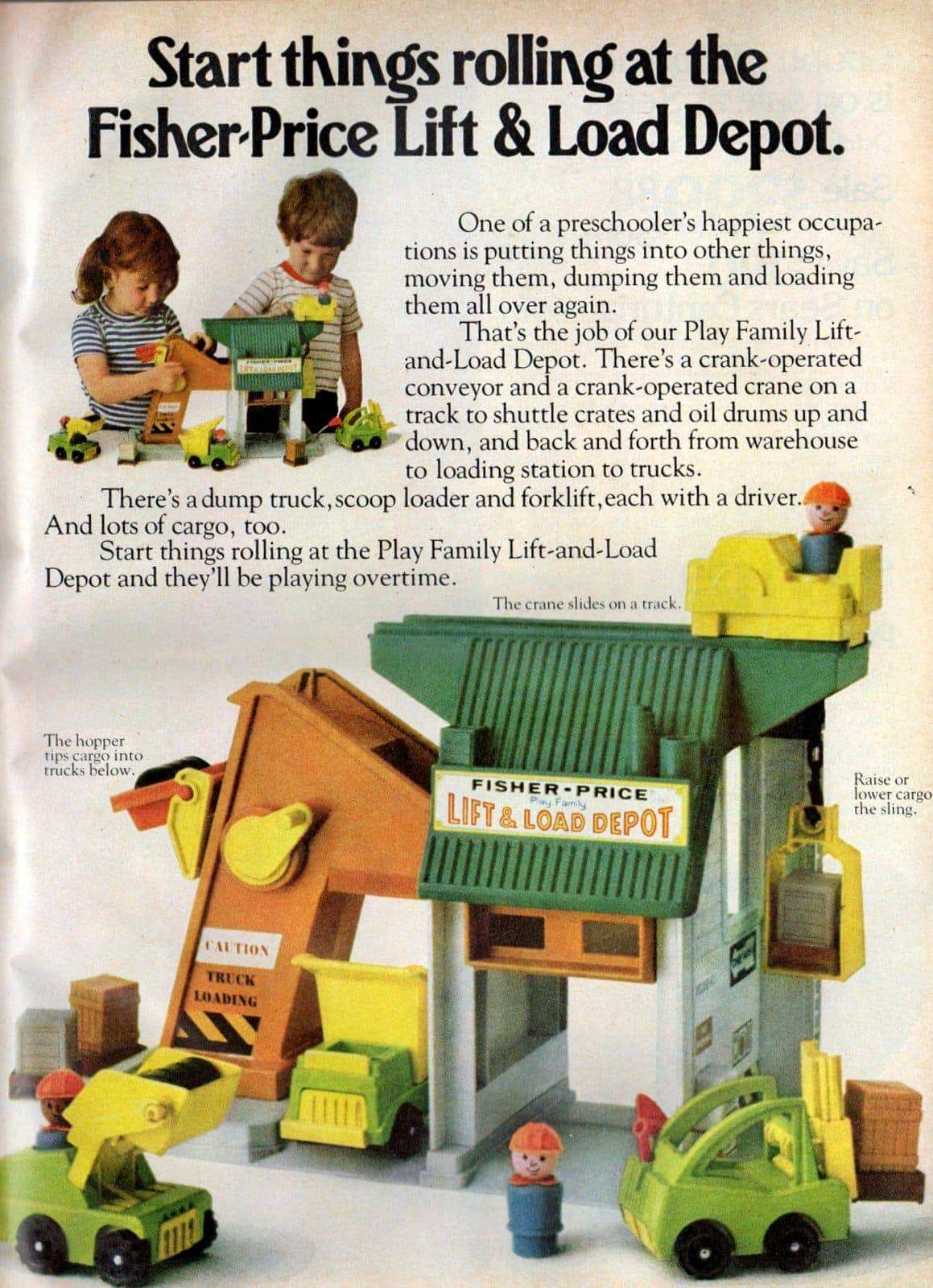 Fisher-Price Play Family Lift & Load Depot (1977)
