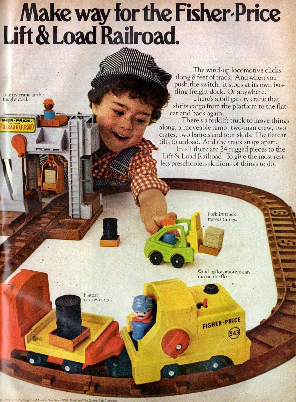 Make way for the Fisher-Price Lift & Load Railroad