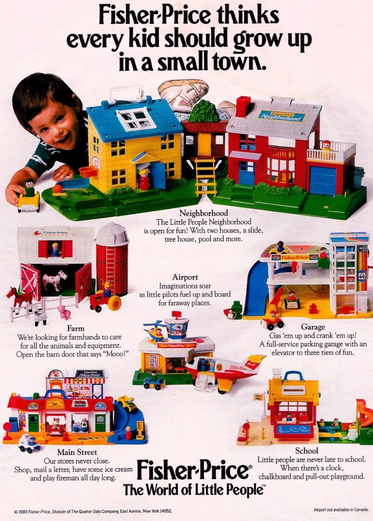 Fisher Price Little People play sets from 1989