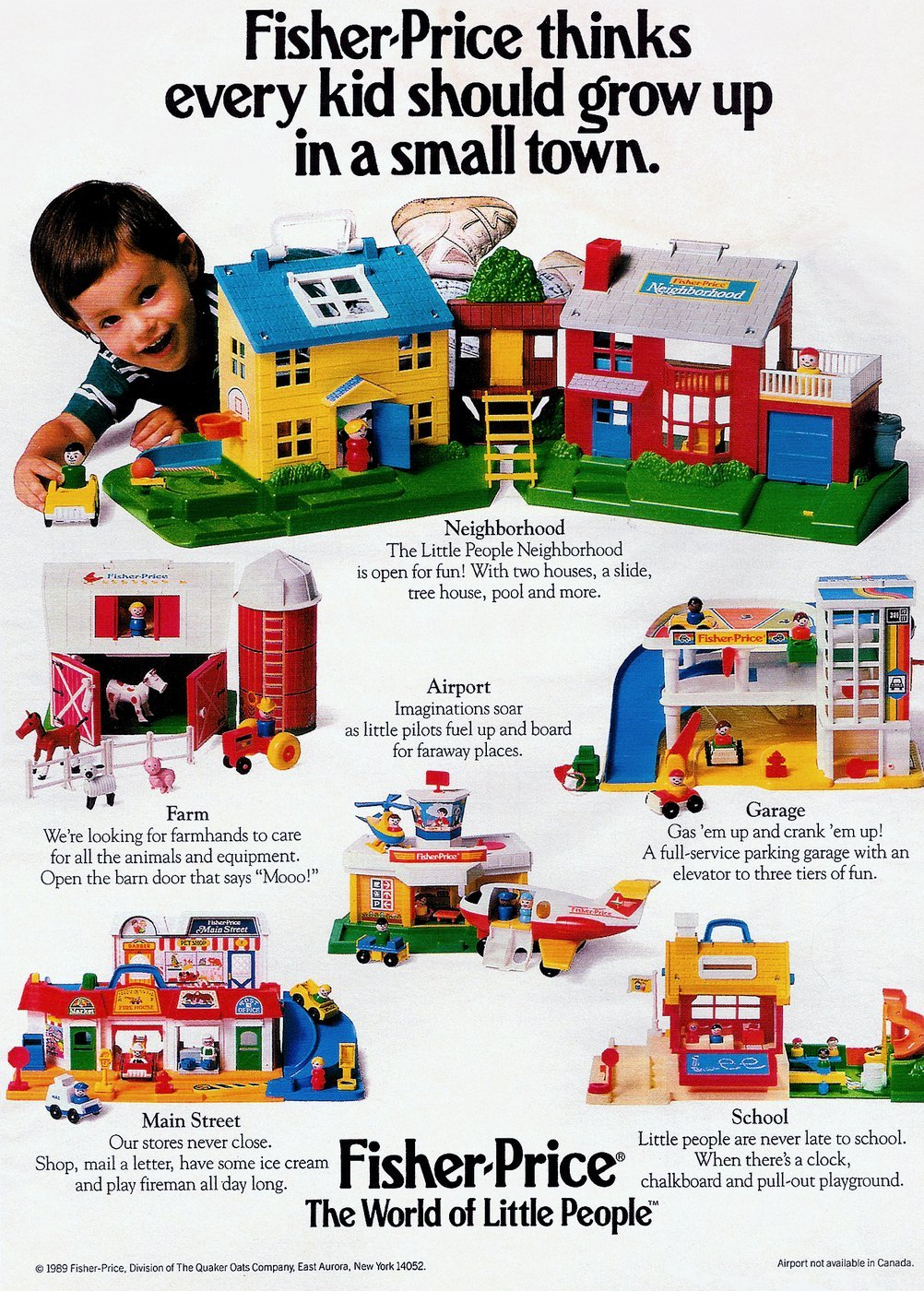 Fisher-Price Little People Every kid should grow up in a small town (1989)