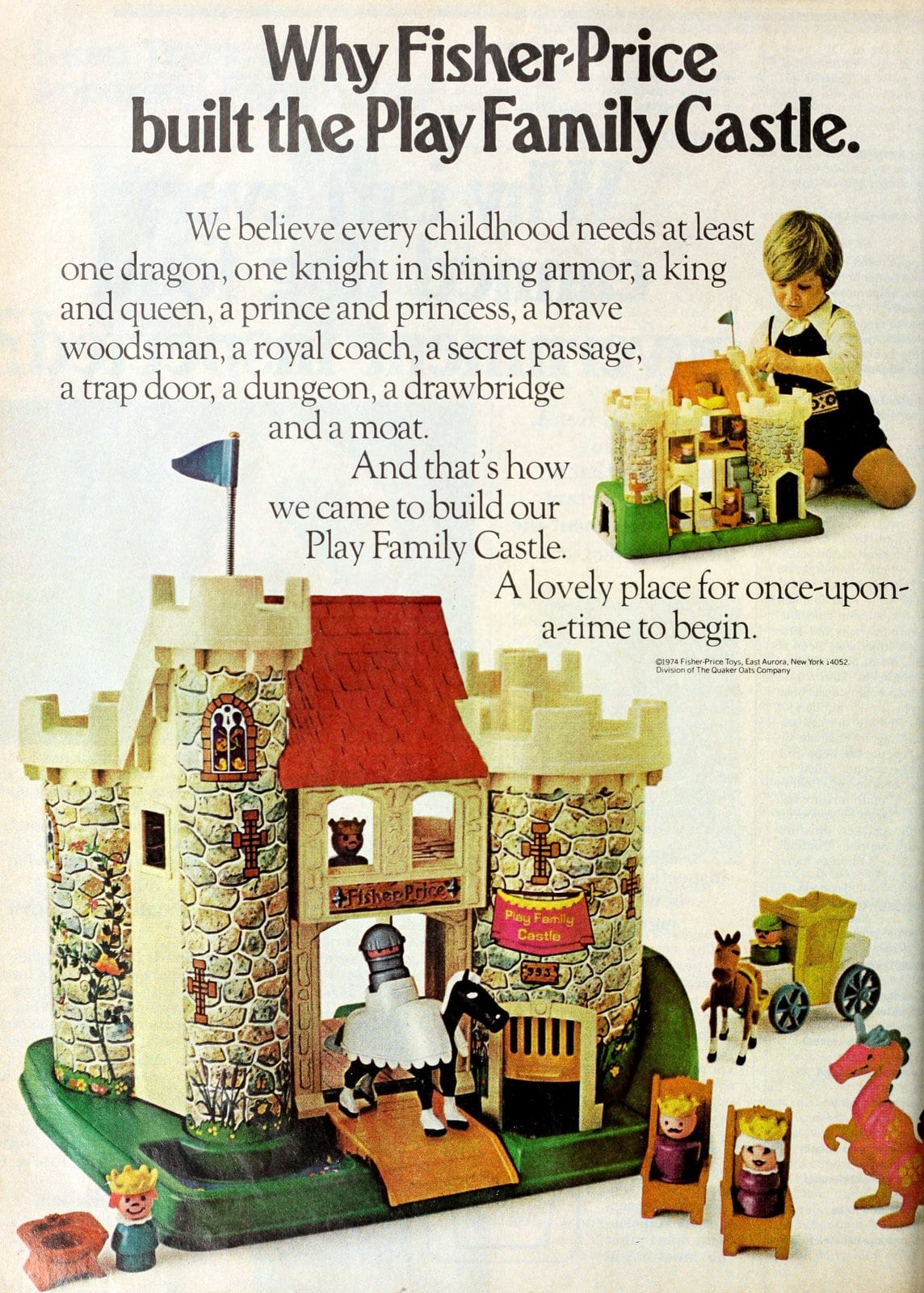 Why Fisher-Price built the vintage Little People Play Family Castle (1974)