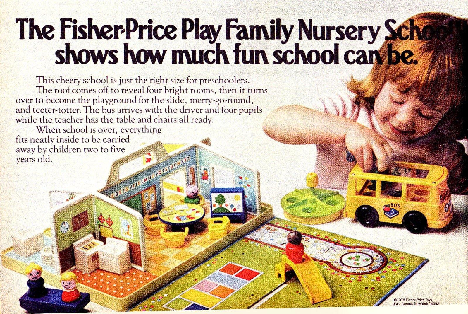 Fisher-Price Little People Play Family Nursery School set (1978)