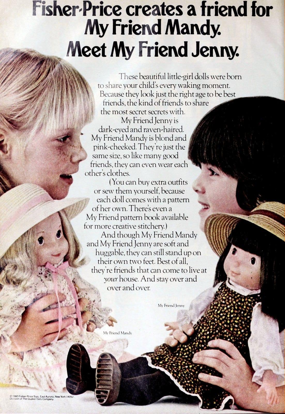 Fisher-Price My Friend Jenny companion doll (1980)