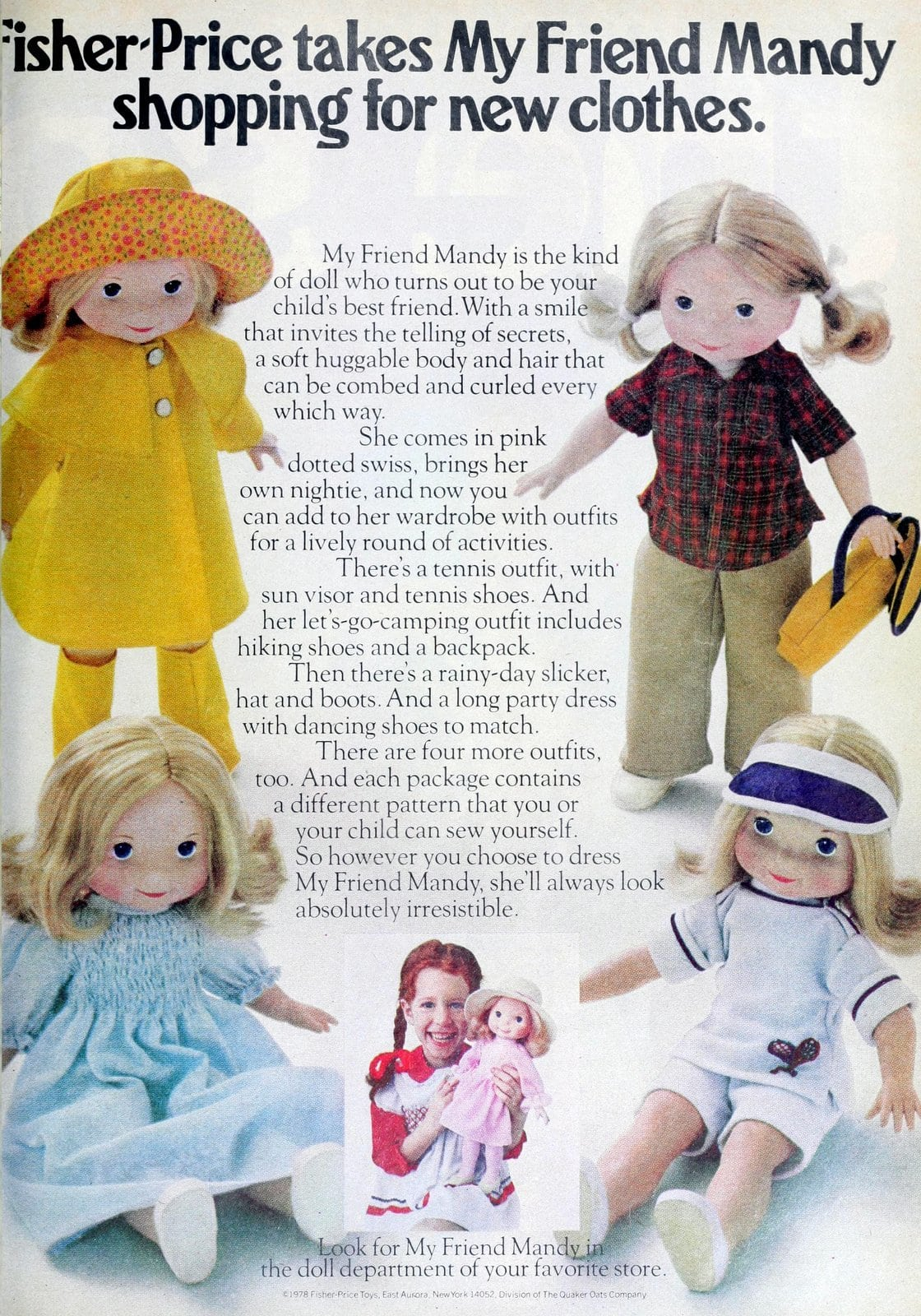 Fisher-Price My Friend Mandy dress-up doll (1980)