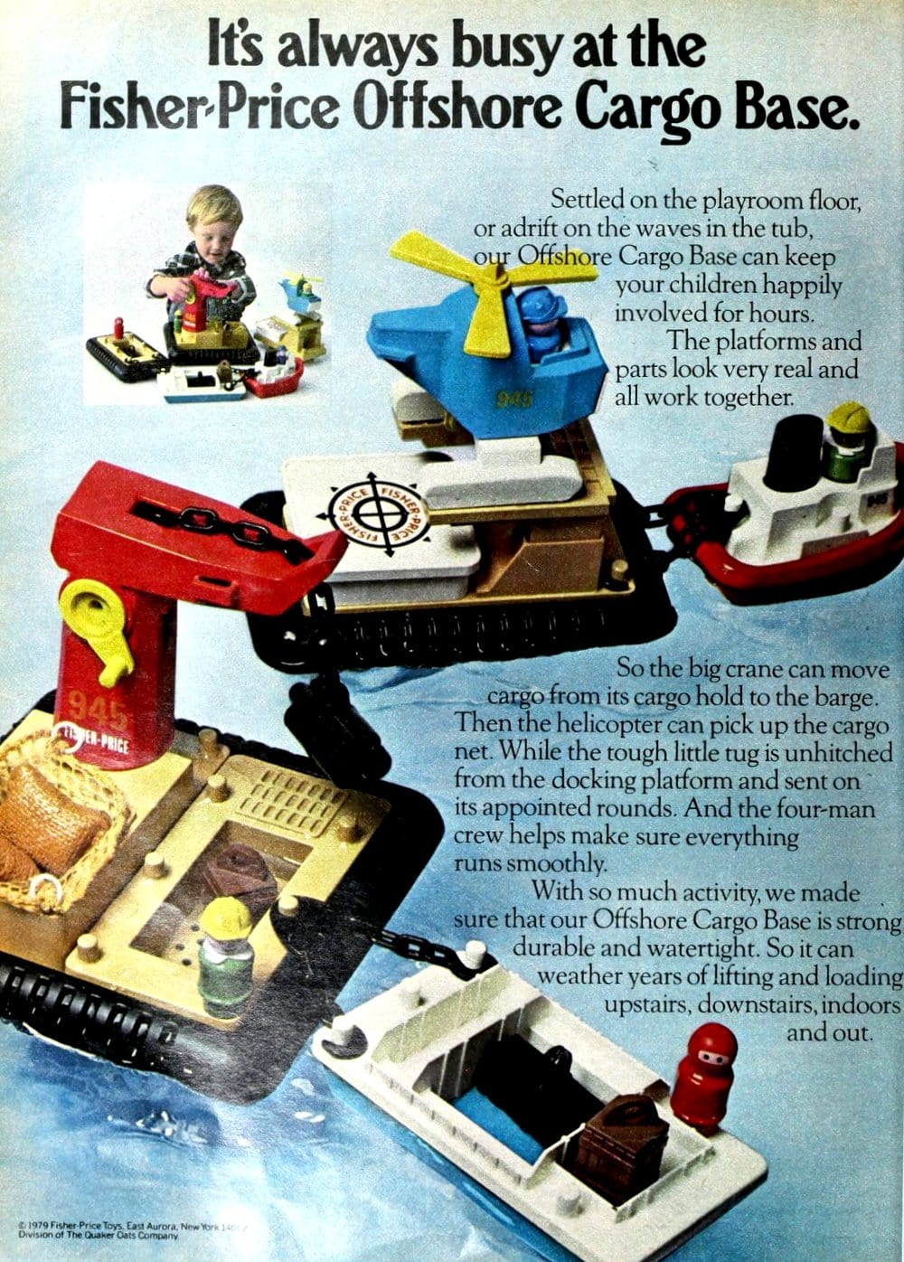 Fisher Price Offshore Cargo Base play set (1979)