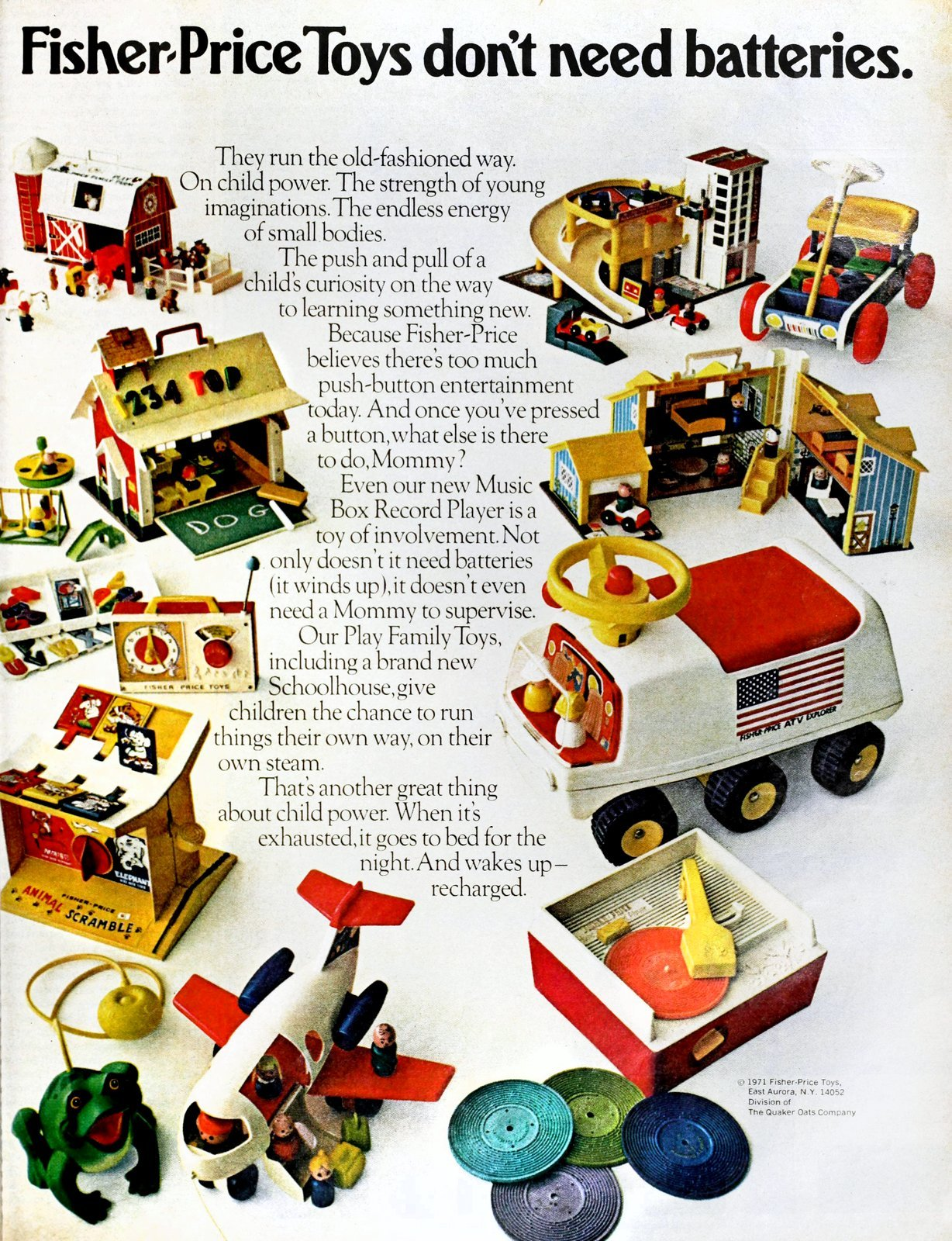 Fisher-Price Toys don't need batteries (1971)
