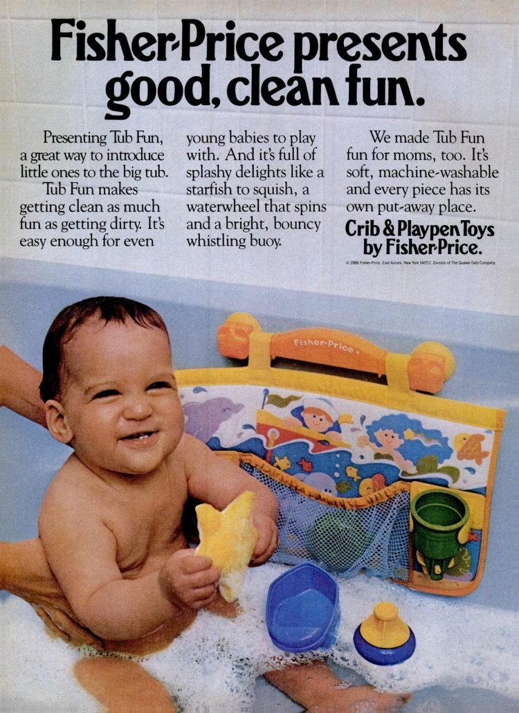 Fisher Price baby bath toys from 1986