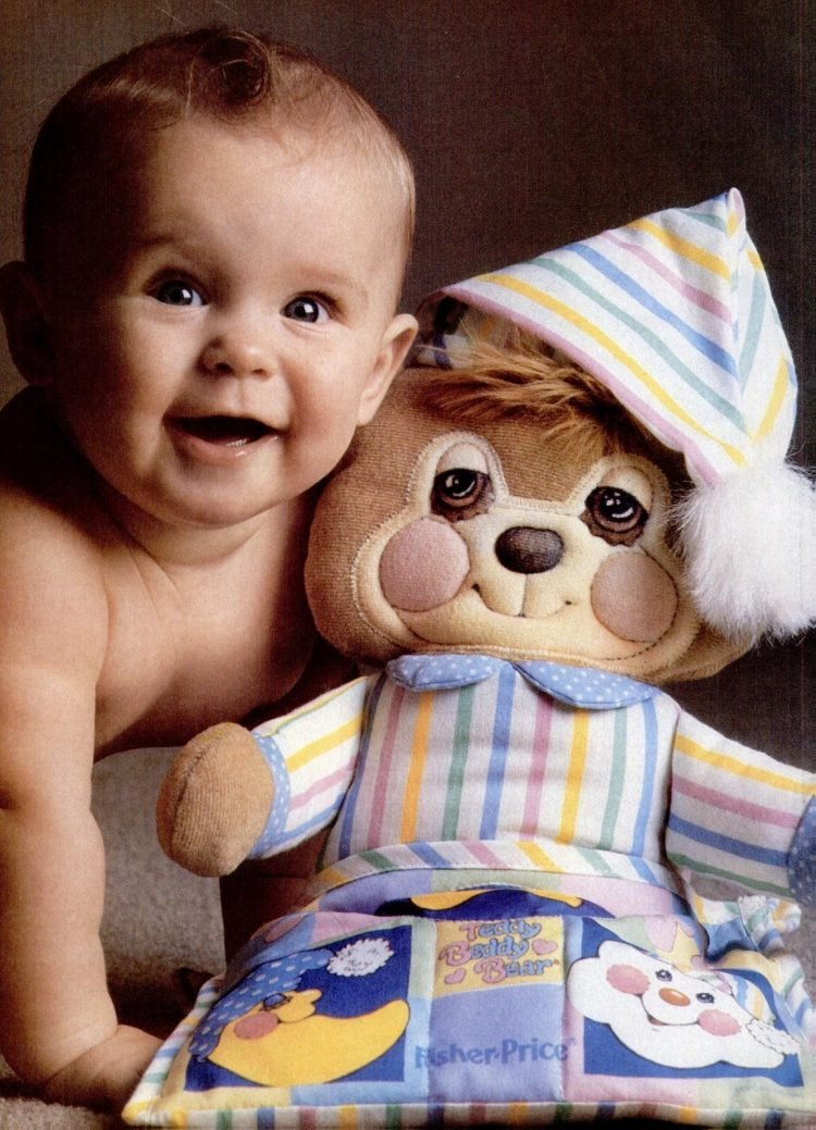 Fisher Price baby toys - Teddy Beddy Bear from 1986