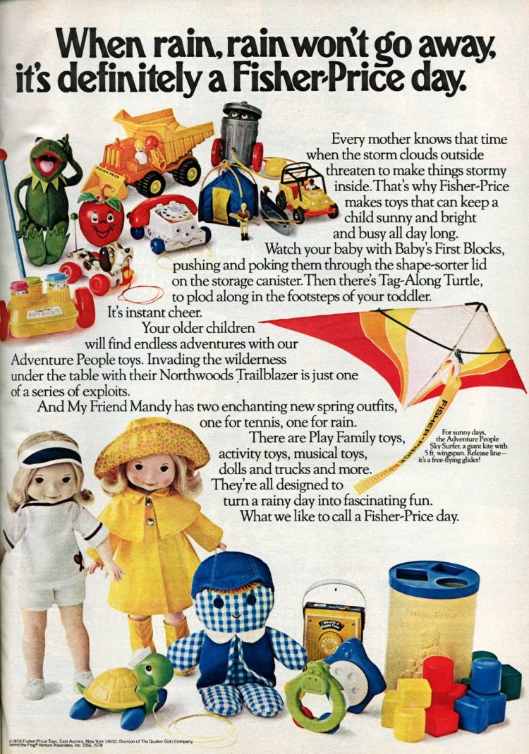 Fisher Price baby toys from 1987 - Rainy days
