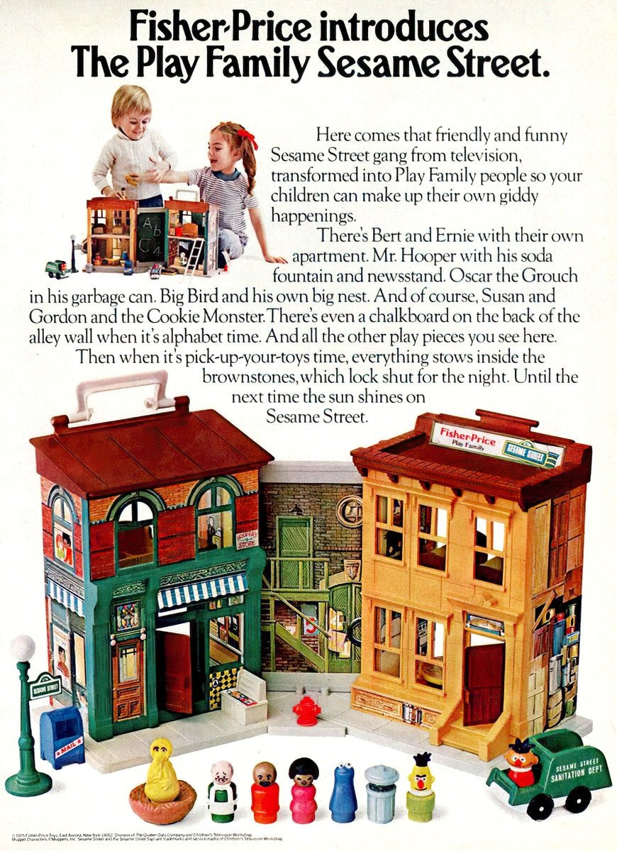 Fisher-Price introduces The Play Family Sesame Street (1975)