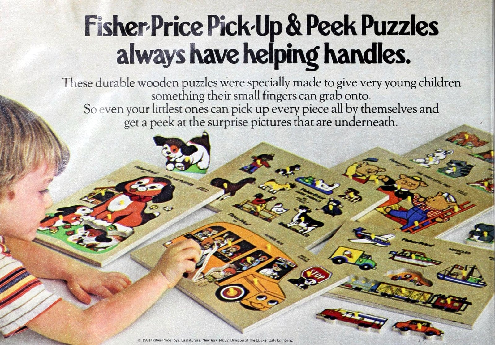 Fisher-Price puzzles for kids (1981)