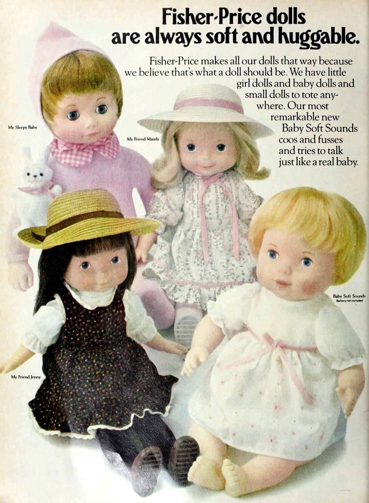 Fisher-Price soft baby dolls (1980)