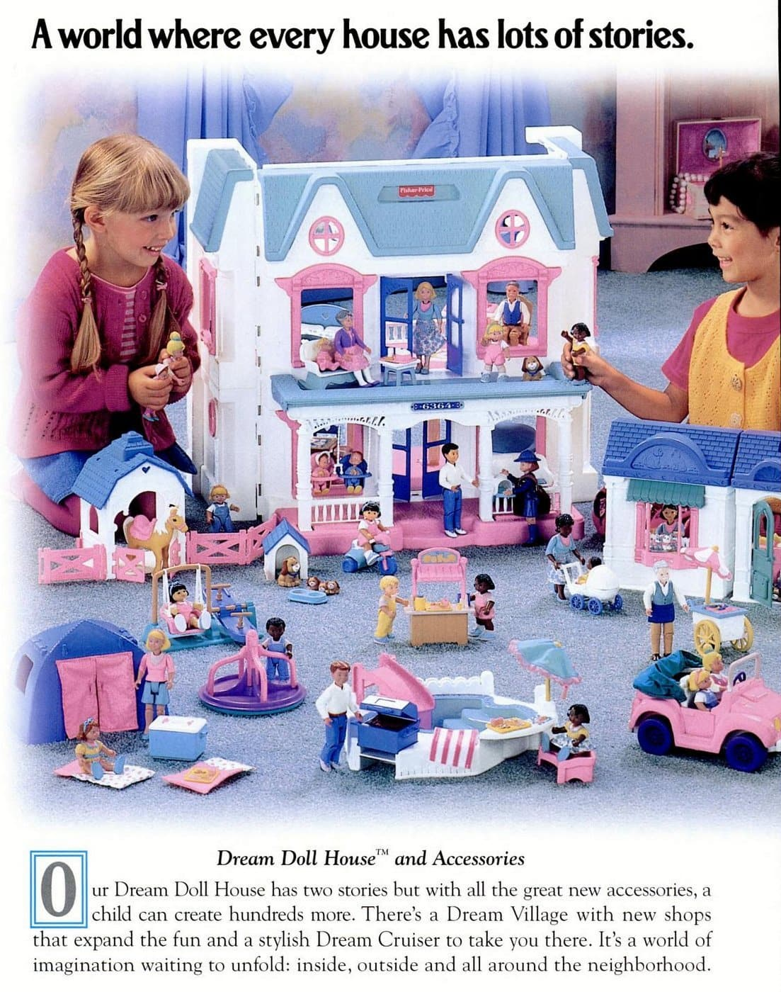 Fisher-Price vintage toys - Dream Doll House (1996)