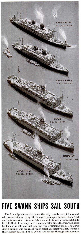 Five swank ships sail south (1948)