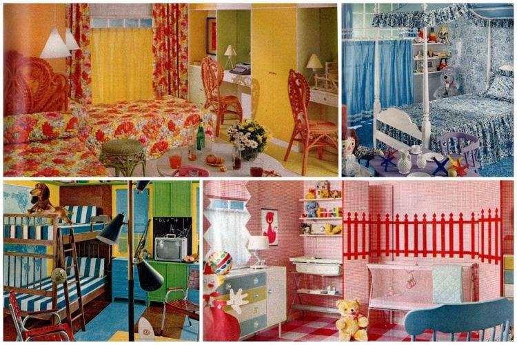 5 clever children\'s bedroom decor ideas (1962) - Click Americana