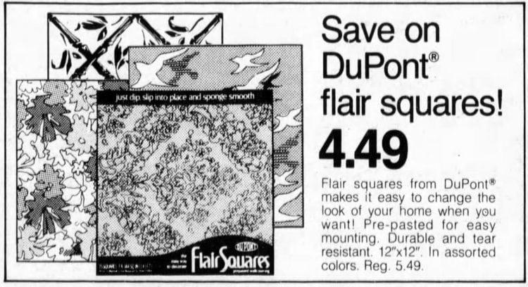 Vintage Flair Squares wallpaper