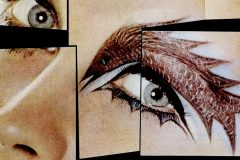 Flamboyant eye makeup from 1965