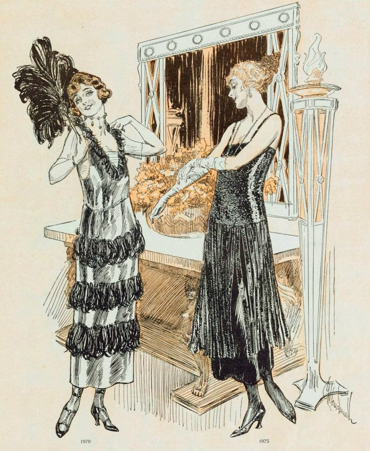 Flapper fashions from the twenties
