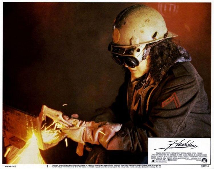 Flashdance lobby card - welding