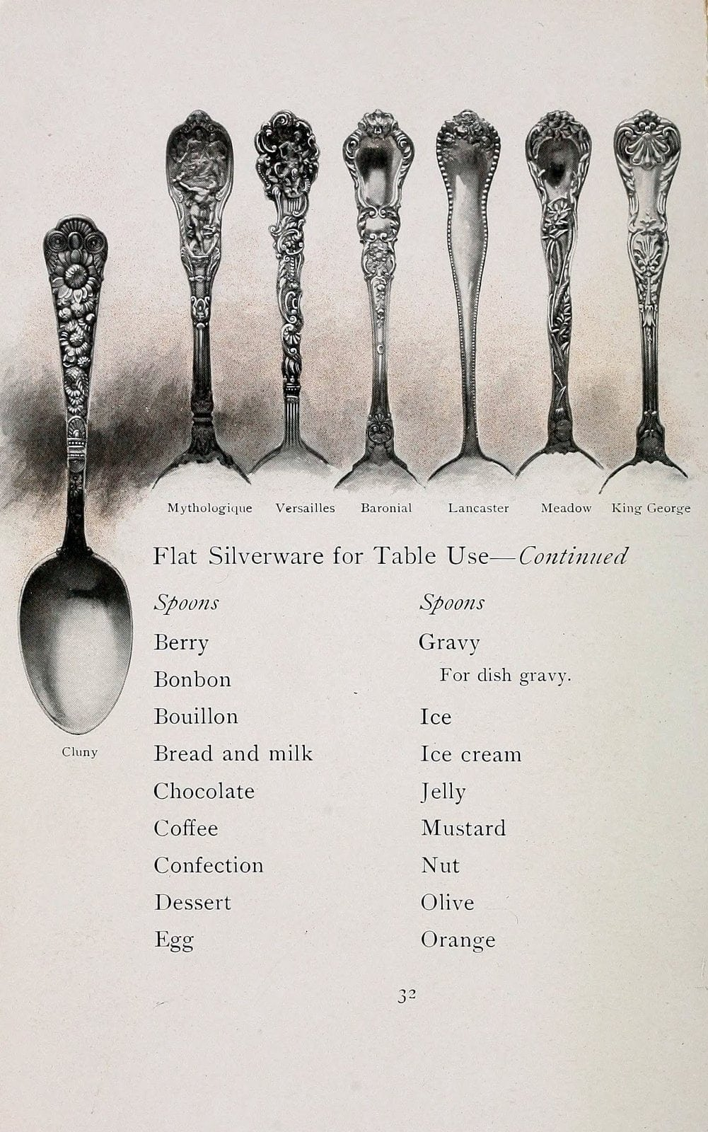 Flat silverware for table use