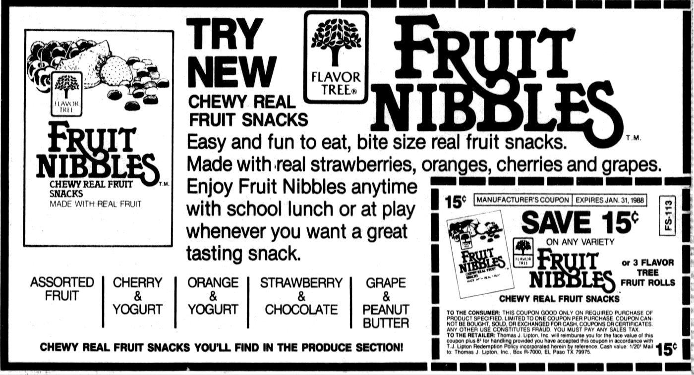 Flavor Tree Fruit Nibbles (1986)