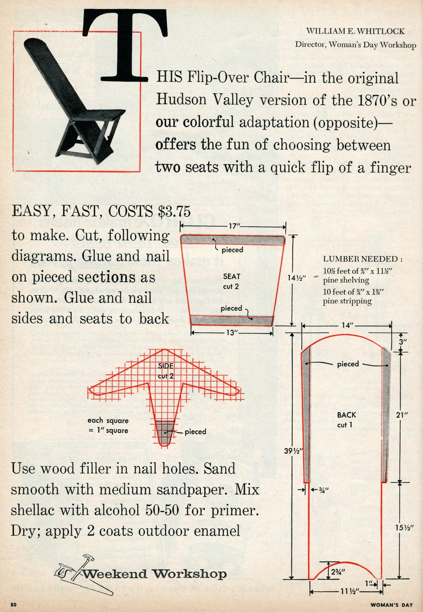 Flip-over chair DIY 1955