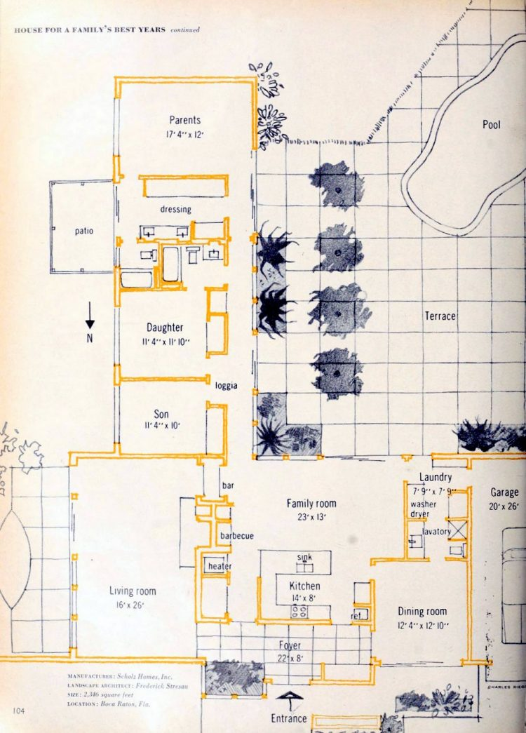 Floor plan - Vintage sixties Scholz Mark 60 house