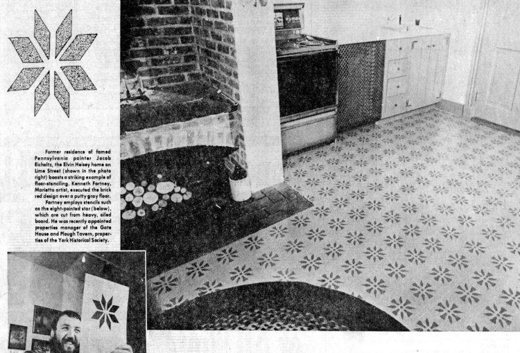 Floor stenciling 1975