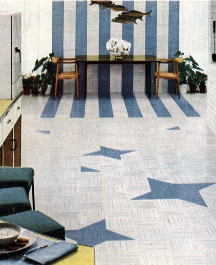 Flooring with stars from 1955