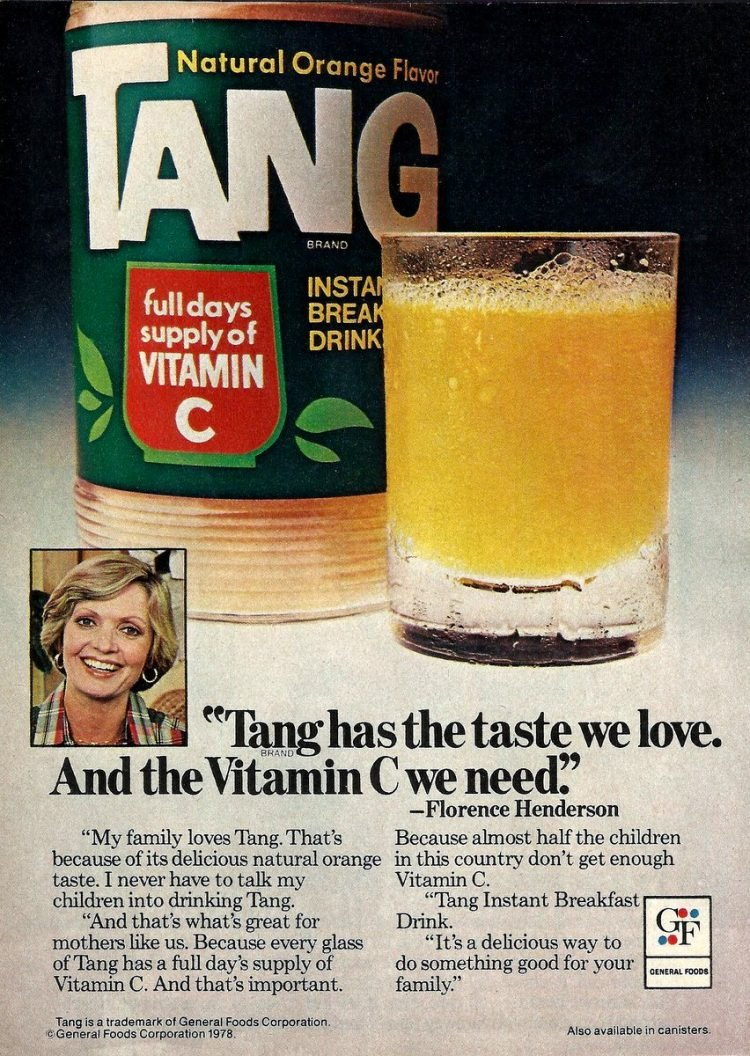 Florence Henderson for Tang (1978)