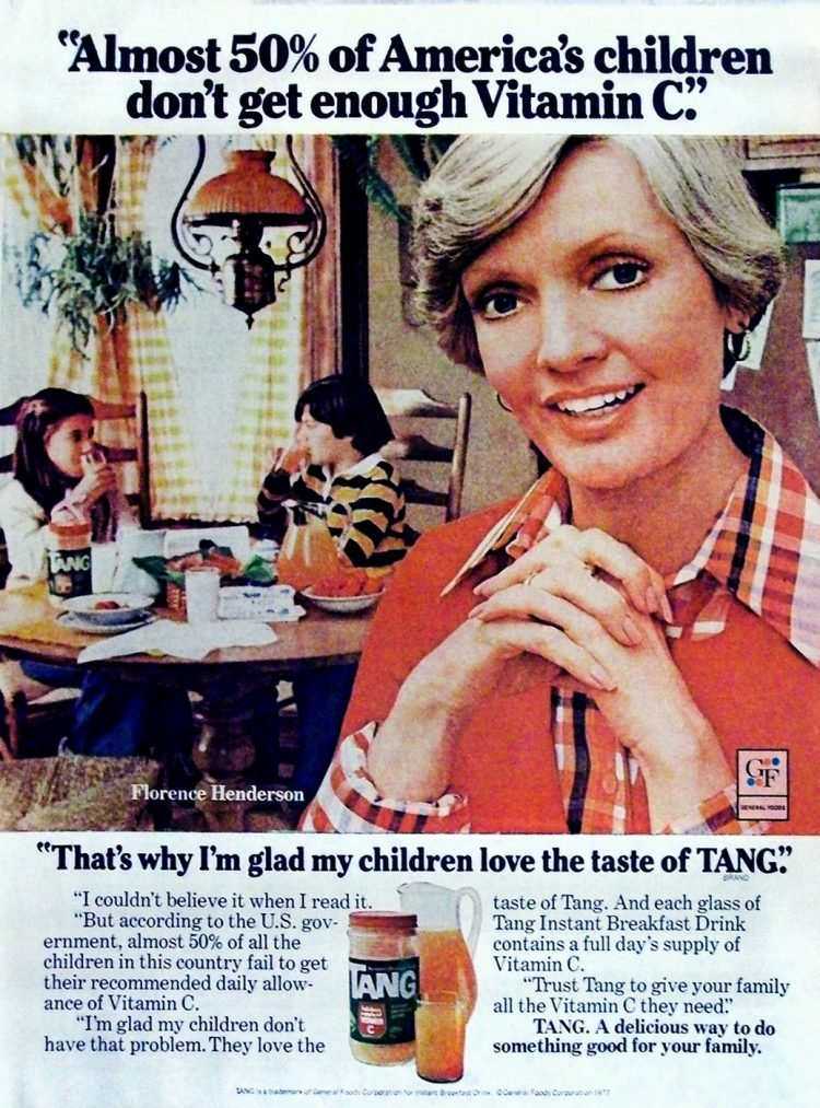 Florence Henderson for Tang drink mix - 1977