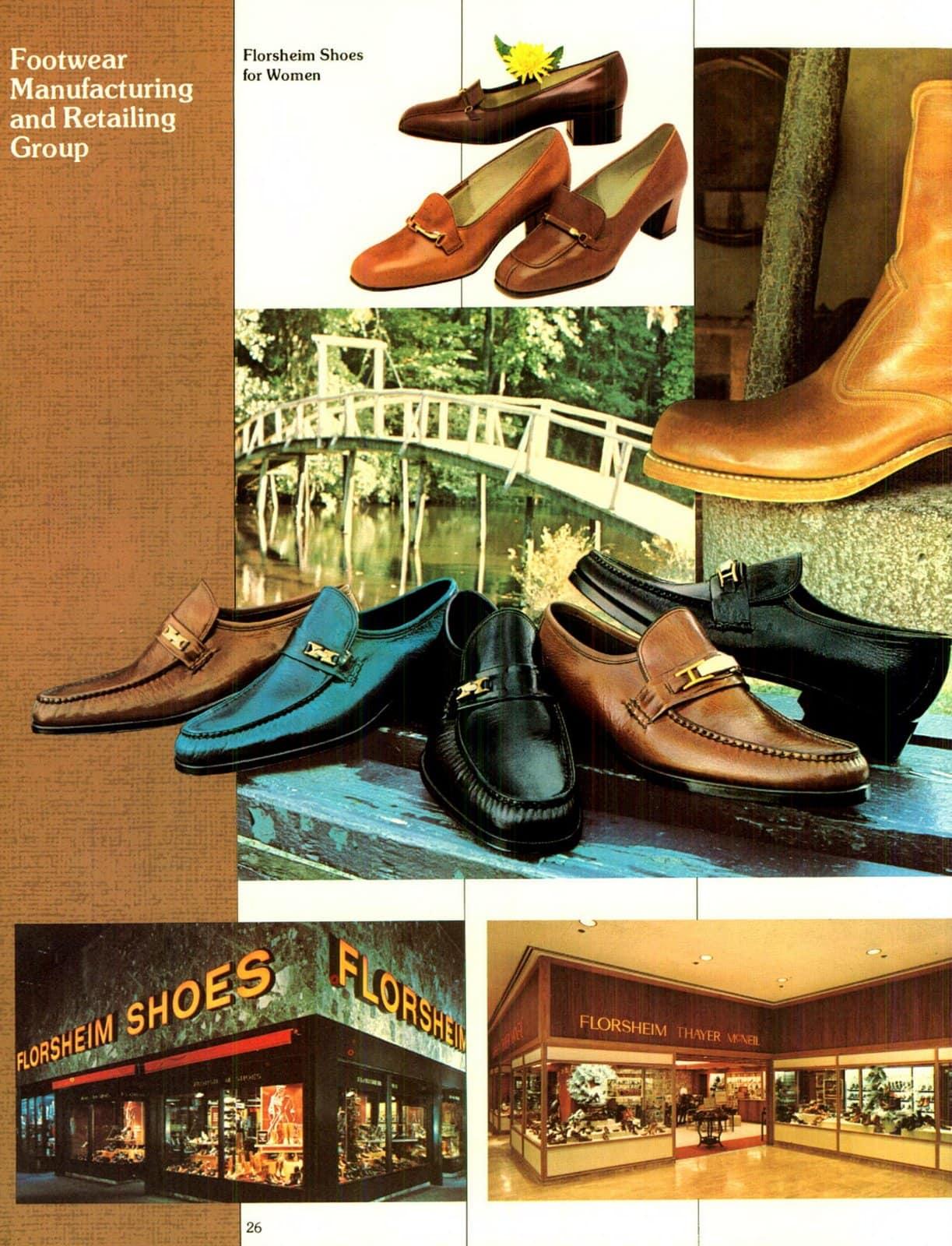 Florsheim shoe stores in 1976