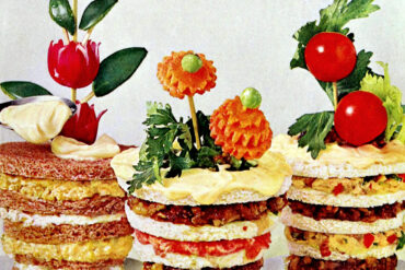 Flower pot sandwiches