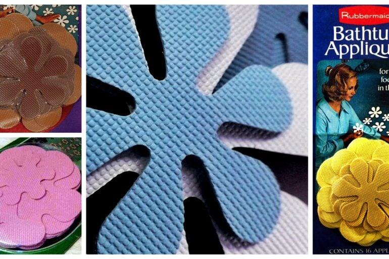 Flower-shaped no-slip bathtub decals - Rubbermaid appliques (1969-1974)
