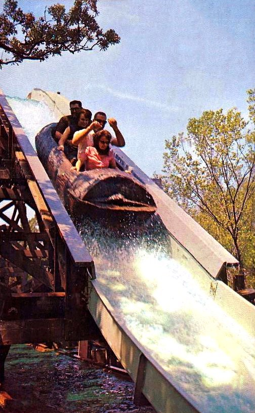Flume ride at old Six Flags over Texas