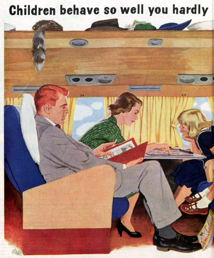 Fly American Airlines with kids - Ad from 1955 (2)
