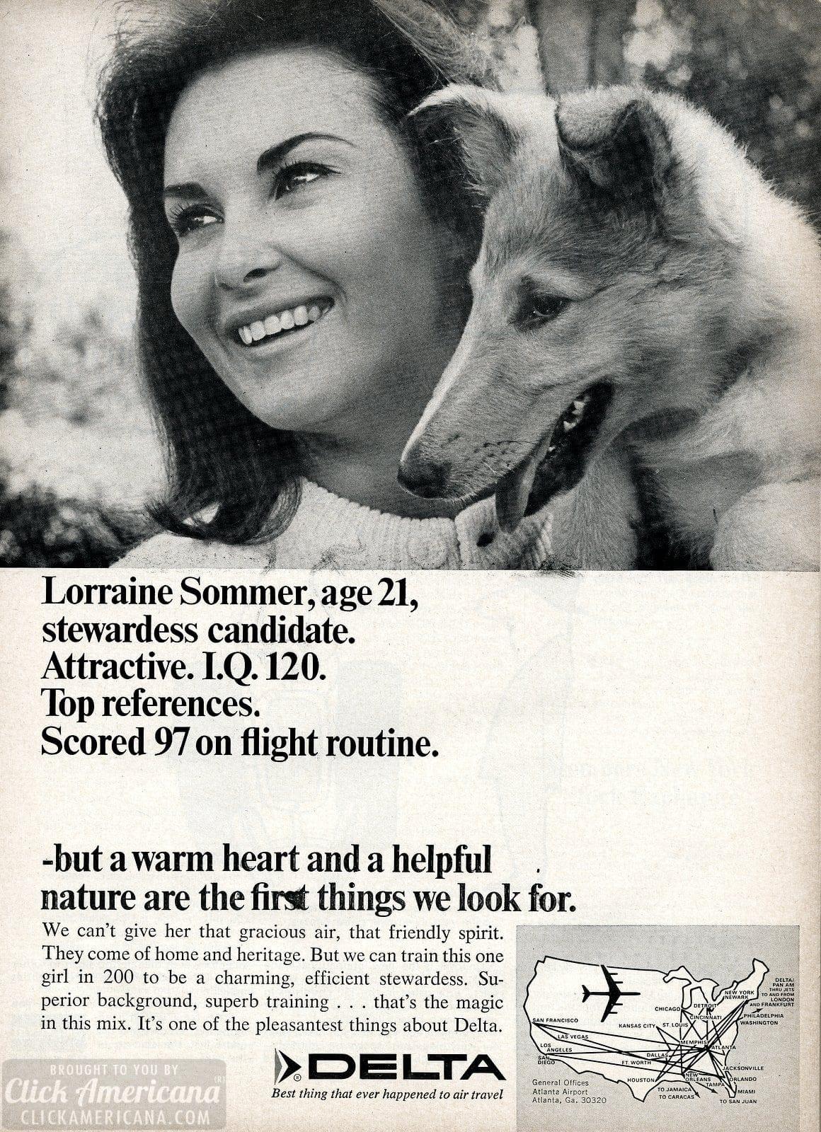 Delta airlines stewardess air hostess 1966