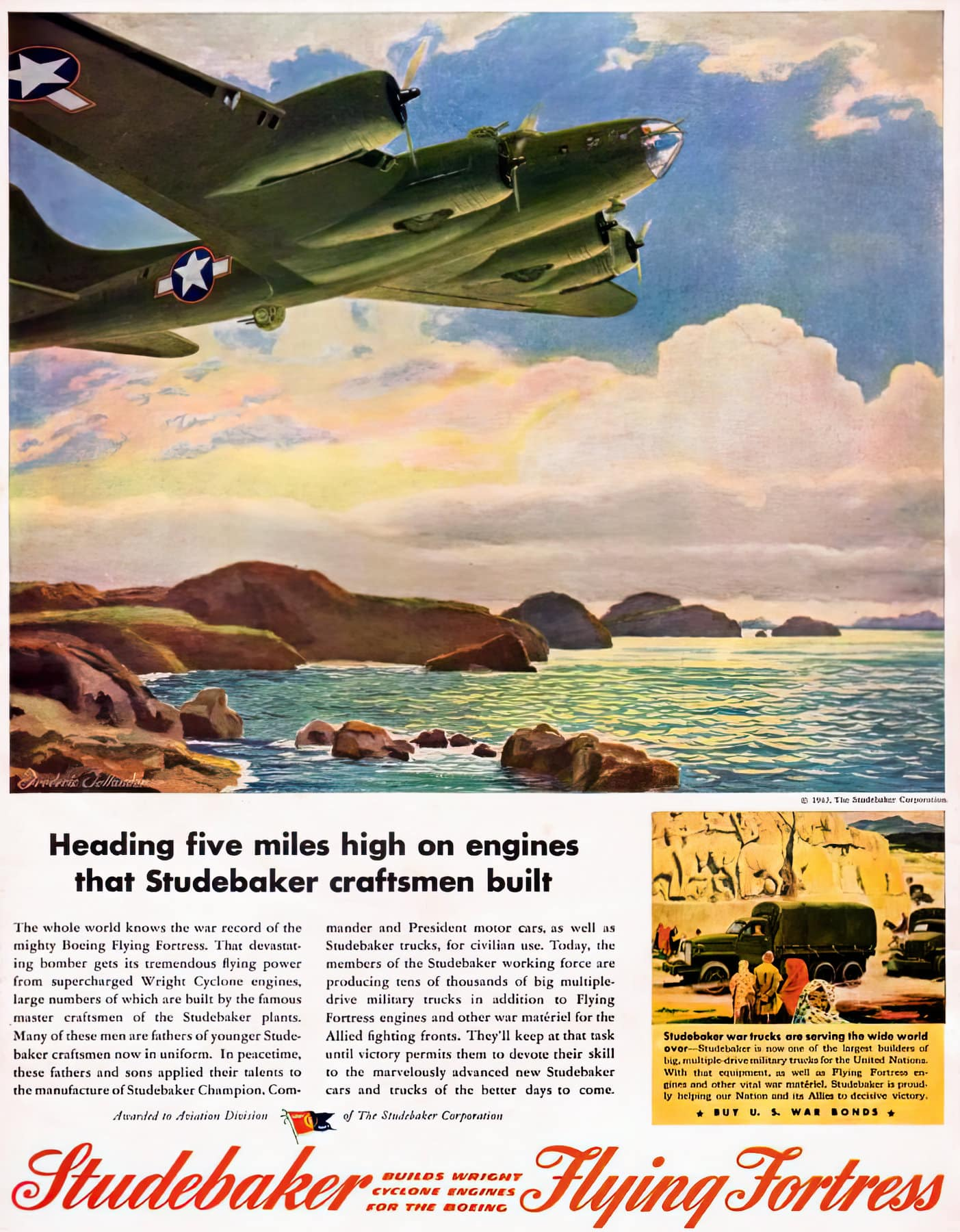 Flying Fortress WWII plane from Studebaker (1943)